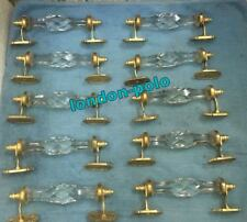 Door Part 10 Pcs Door Handle Crystal Cut Glass Cabinet Handle White Brass Decor