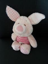 i6- Peluche Doudou PORCINET Disney Nicotoy vichy satin rose 25 cms avec oreilles