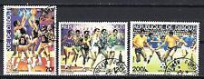 JO été Djibouti (33) série complète de 3 timbres oblitérés