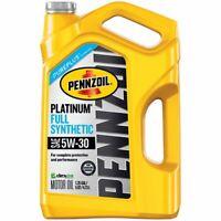 Pennzoil Platinum Full Synthetic Motor Oil 5W-30, 5 Quart - Pack of 1