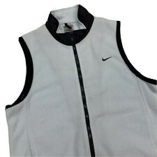 Nike Fleece Vest Womens M L Light Blue Sleeveless Running Work Out Hiking