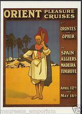 Shipping Advertising Postcard-Orient Pleasure Cruises, Artist John Hassall BX690