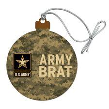 U.S. Army Brat Wood Christmas Tree Holiday Ornament