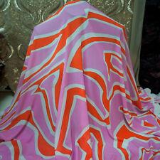 Emilio Pucci authentic viscose fabric. Logo print. 165x140cm. Made in Italy.