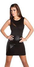 Minivestido señora mini vestido de cuero red look Jersey s 34 36 estrechamente sexy club fiesta nuevo