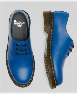 Dr Martens 1461 Smooth Blue Leather Shoes Size UK 11