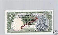 URUGUAY SPÉCIMEN 500 PESOS 2.1.1939 PICK 40 b S !!!!