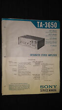 Sony ta-3650 Service Manual Original Reparatur Buch Integrated Stereo Amplifier Amp