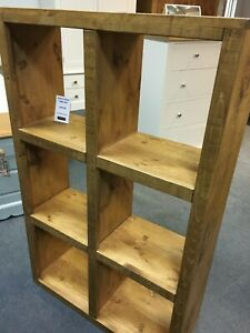 RUSTIC PLANK CUBE STORAGE SHELVING UNIT.  CAN BE ANY SIZE.