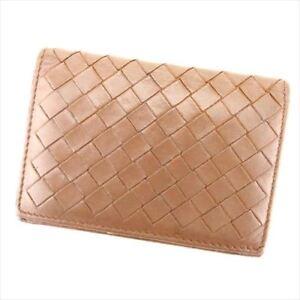 Bottega Veneta Card Case Intrecciato Brown Woman unisex Authentic Used T7194