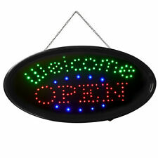 """Bright Led Neon Light Animated """" Welcome Open """" Shop Restaurant Business Sign"""