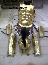 Antique Armor Spartan Helmet W/ Muscle Jacket Leg & Arm Guard Costume
