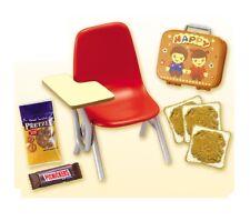 "RE-MENT ""USA Kitchen #5-School Lunchbox ,""1:6 Barbie size kitchen food minis"
