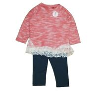 NEXT GIRLS' PINK CREW TOP WITH LEGGING 12-18, 18-24 Months, 2-3, 3-4, 5-6 BNWT