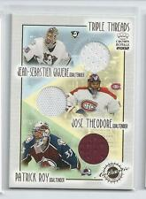 Giguere, Jose Theodore & Patrick Roy 2001-02 Crown Royale Triple Threads Jersey