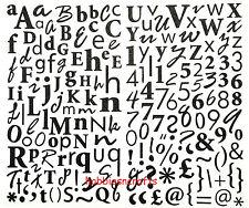 Dovecraft glitter alphabet stickers-upper & lower case + numéros & symboles