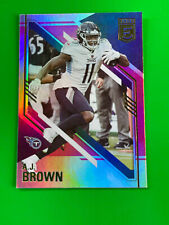 A.J. Brown 2021 Panini Donruss Elite Football #6 Pink Parallel Tennessee Titans