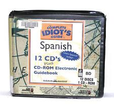 BOOK/AUDIOBOOK CD CD-ROM Language Instruction COMPLETE IDIOT'S GUIDE TO SPANISH