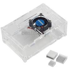 Clear Acrylic Case + Cooling Fan +3pcs Heatsink Kit for Raspberry Pi 3 Model b