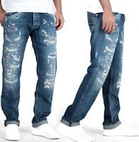 Pepe Herren Destroyed Slim Fit Jeans Hose | Spike 312 |W30 L32