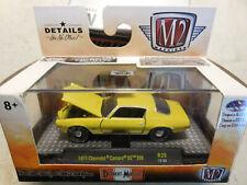 M2 Machines 71 Chevrolet Camaro SS 396 Metallic Yellow w Case 1/64 FREE SHIP NEW
