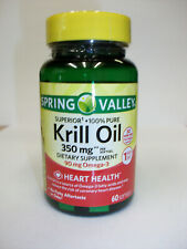 Spring Valley Krill Oil  350 mg  60 Softgels   90 mg Omega-3