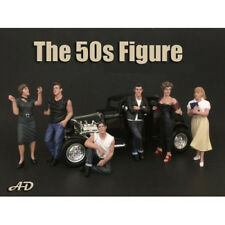 50's STYLE 6PC FIGURE SET 1:24 SCALE BY AMERICAN DIORAMA 38251,52,53,54,55,58