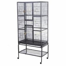 New Bird Parrot Cage Chinchilla Cockatiel Conure Large W/Stand & Two Doors