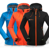 Womens Ladies Soft Shell Waterproof Breathable Travel Jacket Outdoor Hiking Coat