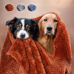 Soft Dog Blanket Pet Coral Velvet Fleece Bed Cozy Cat Dog Cover Sleeping Pad S L