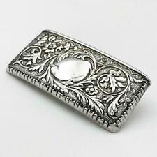 More details for edwardian sterling silver repousse calling card case birmingham 1909 j gloster