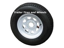 Eco-Trail ST205/75D15 LRC Bias Trailer Tire & Wheel White Spoke 5-4.5