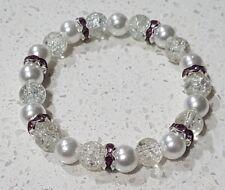Faux Pearl Bracelet Wedding Bride Bridesmaid