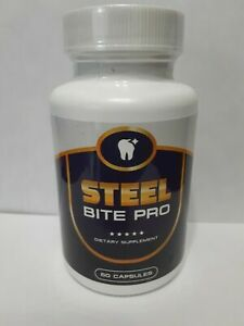 Steel Bite Pro Teeth Supplement 60 capsules Exp.2022 -shipping same day!