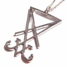 SIGIL OF LUCIFER PENDANT NECKLACE silver Occult Devil Satan Satanic Amulet 4H