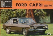 Ford Capri 2000 3000 Intereurope book for the non-technical owner