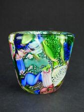 More details for avem bizantino green posy vase zanfirico millefiori latticino tutti frutti italy
