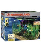 Marineland Aquarium Fish Tank Kit 3 Gallon LED Lights System Pump Filter