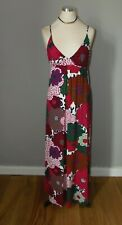 Miss Sixty large floral print strappy maxi dress Size XL Size 14 boho festival