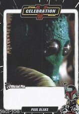 Paul Blake Official Pix Star Wars Autograph Trading Card Celebration V Exc