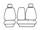 Tailor Made Seat Covers in Charcoal for Kia Pregio van from 2002 onwards