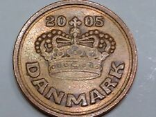 Denmark 2005 50 Ore Queen Margrethe II Heart Love Large Crown
