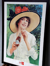 "POSTER COCA COLA 50° 1927/1977 REPRO ""SUMMER GIRL 1921"""
