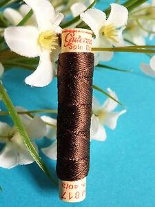 1300B / Beautiful Coil Pure Wire Silk Drawstring Gutermann Brown N° 817
