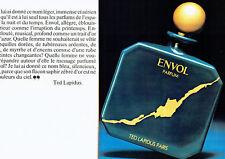 Publicité Advertising 028  1980   parfum Envol Ted Lapidus  (2p)