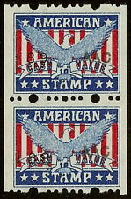 """American Stamp"" Red, White and Blue W/Eagle Cinderella"