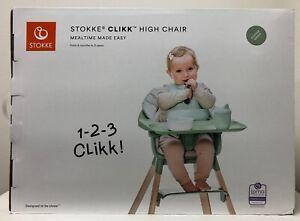 Stokke Clikk Lightweight & Travel-Friendly High Chair w/ Tray & 5-Point Harness