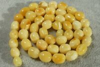 Baltic natural marble white Baltic amber necklace 21 grams