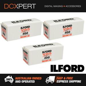 ILFORD XP2 SUPER ISO 400 120 ROLL BLACK & WHITE FILM (1839649) (3 PACK)