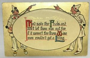 Antique Postcard GOD SAVE THE FOOLS... ; National Series